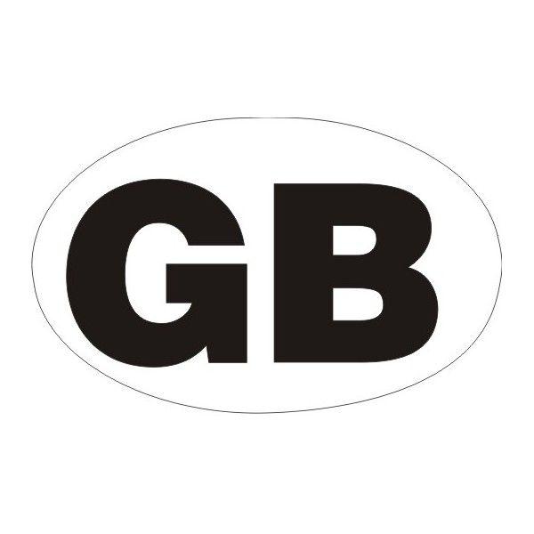 Outdoor Vinyl Sticker White Gb Oval