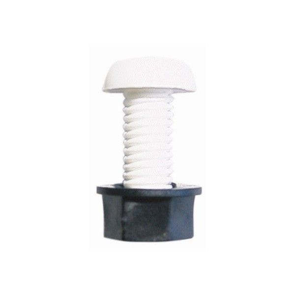 Number Plate Screws Nuts White Pack Of 50