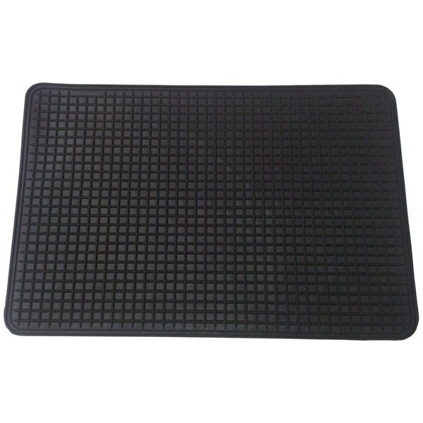 Standard Mat Pvc Black Single