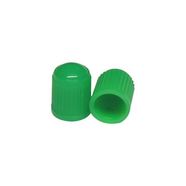 Car Dust Caps Green Set Of 4