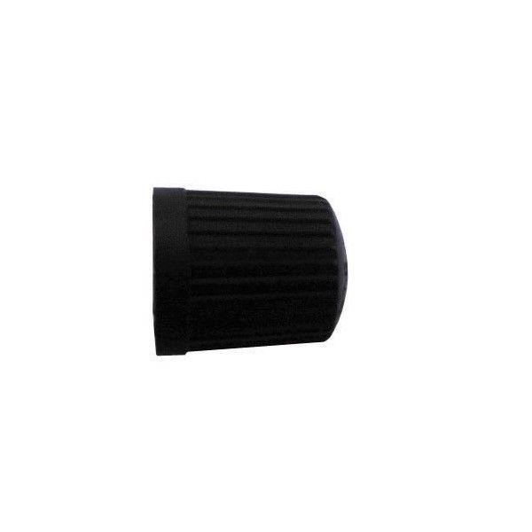 Car Dust Caps Black Plastic Pack Of 4