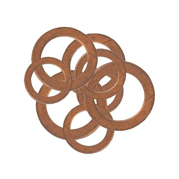 Copper Washers Assorted Large Pack Of 9