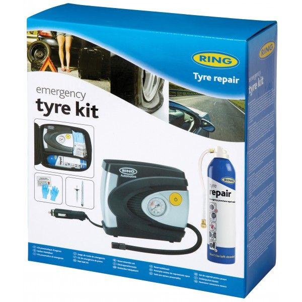 Emergency Tyre Compressor Sealant Kit