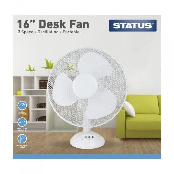 3 Speed Oscillating Desk Fan 16In.