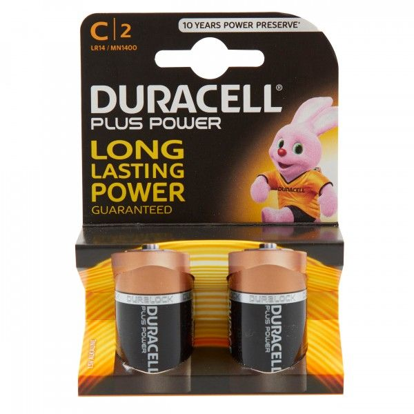 Plus Power Alkaline C Batteries Pack Of 2