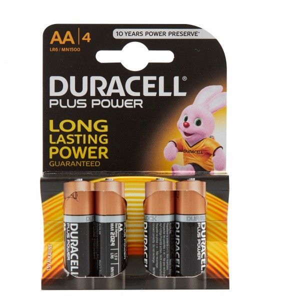 Plus Power Alkaline Aa Batteries Pack Of 4