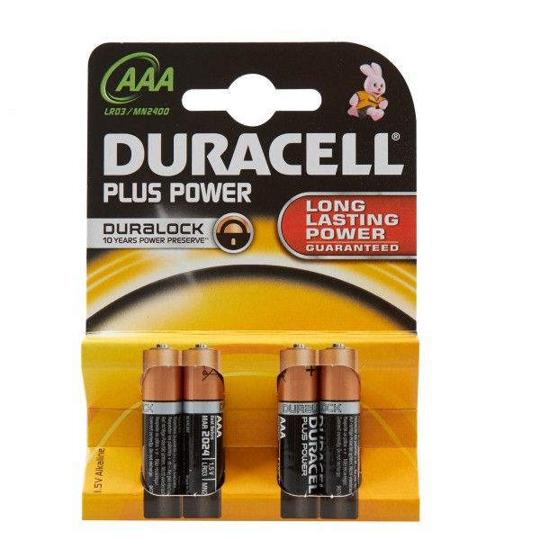 Plus Power Alkaline Aaa Batteries Pack Of 4