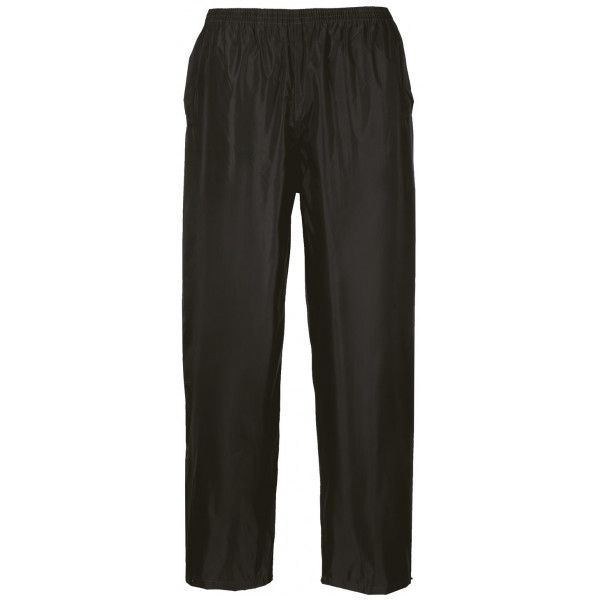 Classic Rain Trousers Black Small Regular