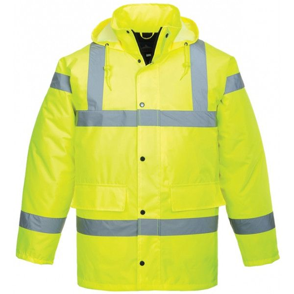 Hivis Traffic Jacket Yellow Large