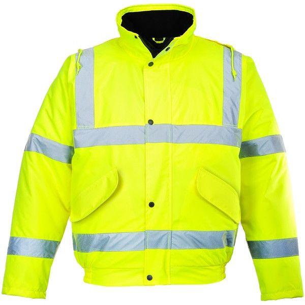 Hivis Bomber Jacket Yellow Large