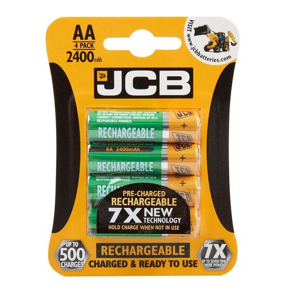 Rechargeable Aa Batteries 2400Mah Pack Of 4