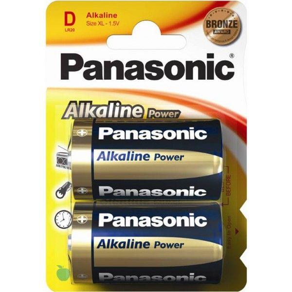 Alkaline Power D Batteries Pack Of 2