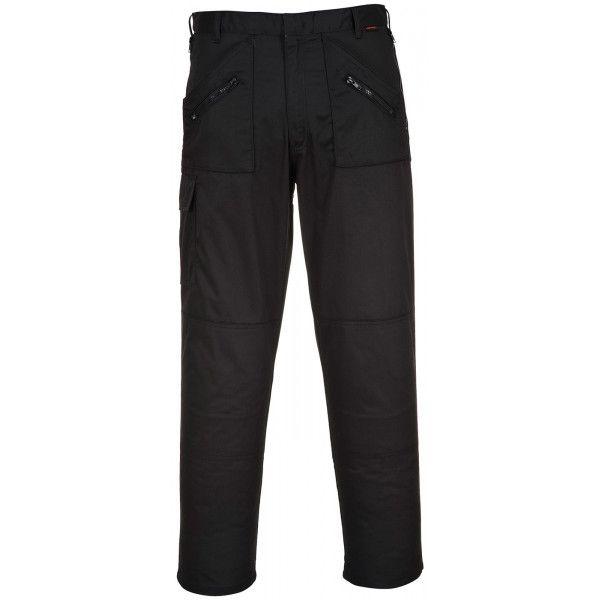 Action Trousers Black 40In. Waist Regular