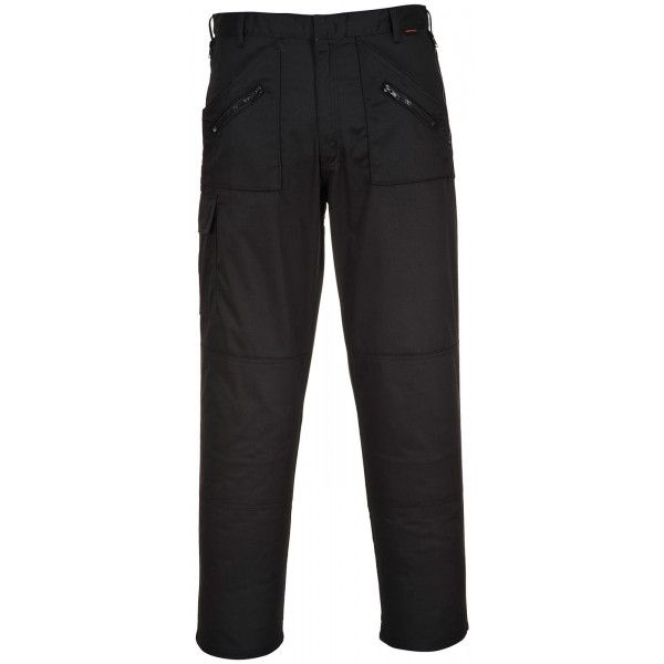 Action Trousers Black 30In. Waist Short