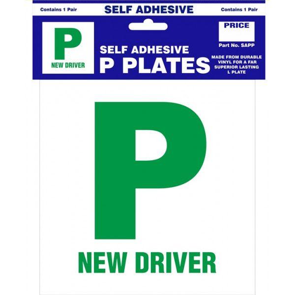 P Plates Self Adhesive Pair