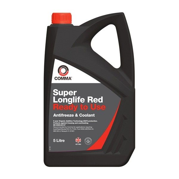 Super Longlife Red Antifreeze Coolant Ready To Use 5 Litre