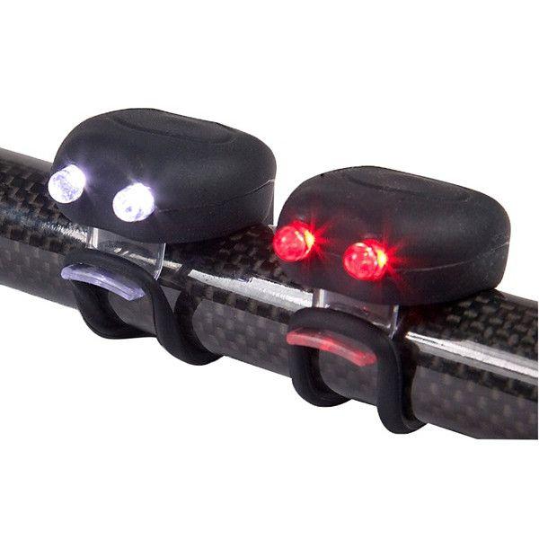 Megamini Twin Led Silicone Cycle Light Set Black