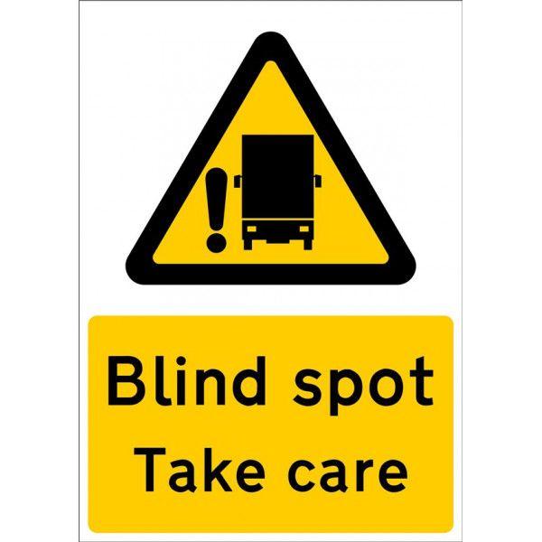 Outdoor Vinyl Sticker Blind Spot Take Care Large