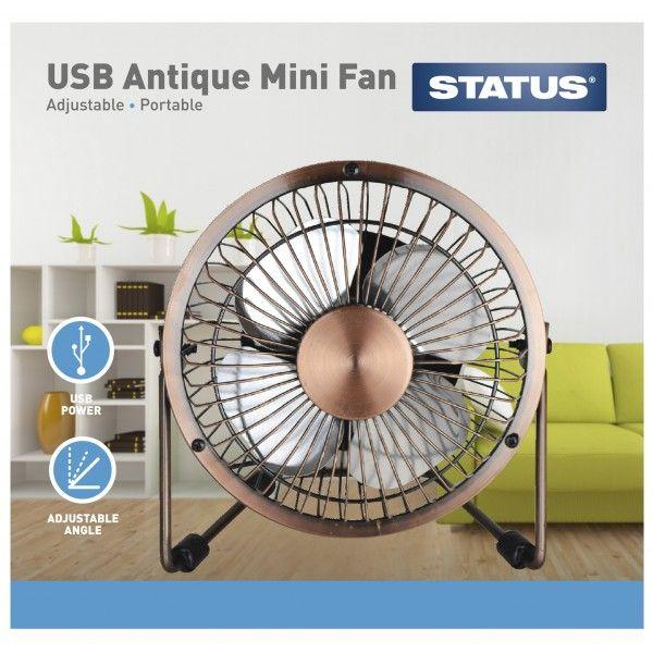 Portable Usb Mini Metal Desk Fan 4In.