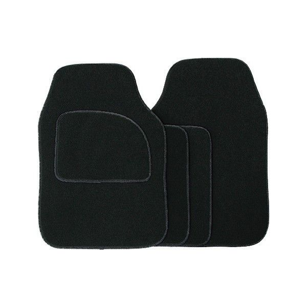 Standard Universal Mat Set Velour Blackblack Binding 4 Piece
