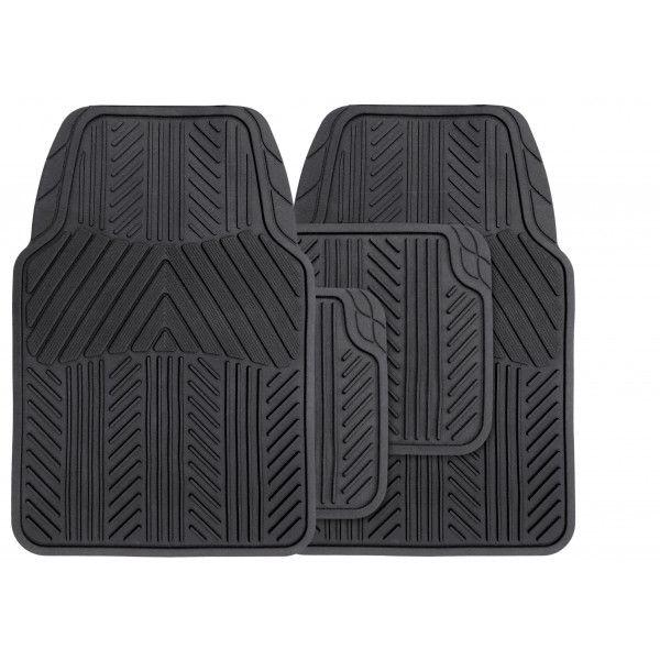 Universal Rubber Mat Set Black 4 Piece