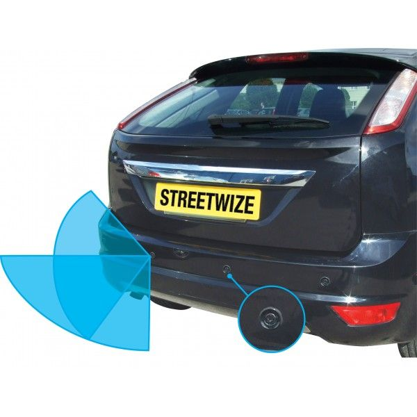 Reverse Parking System With Audio Warning Led Display