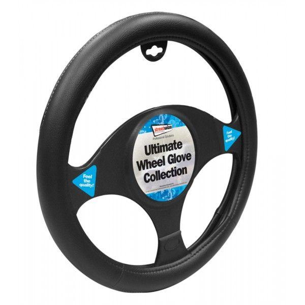 Steering Wheel Cover Luxury Black