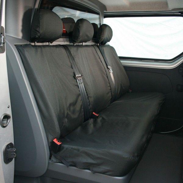 Van Seat Cover Front Double Black Vauxhall Vivaro
