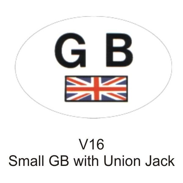 Outdoor Vinyl Sticker Small White Gb With Union Jack