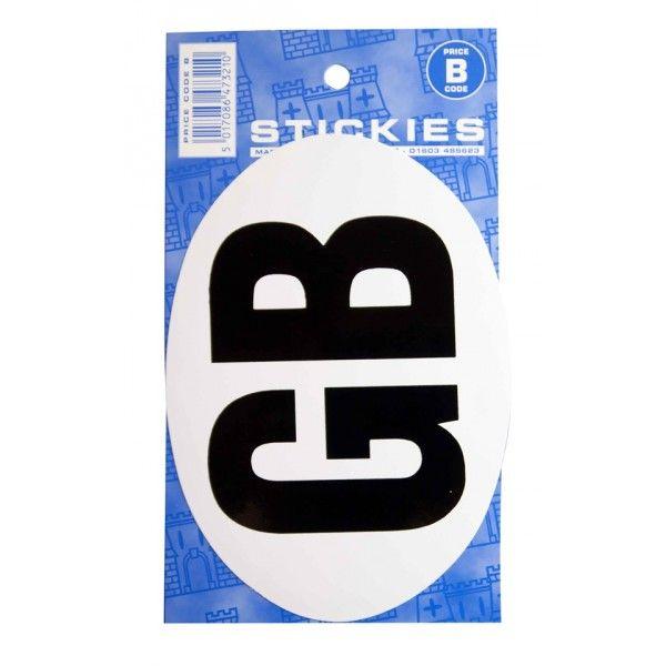 Outdoor Vinyl Sticker Large White Gb
