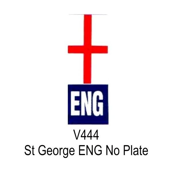 Outdoor Vinyl Sticker White Eng St. George Flag