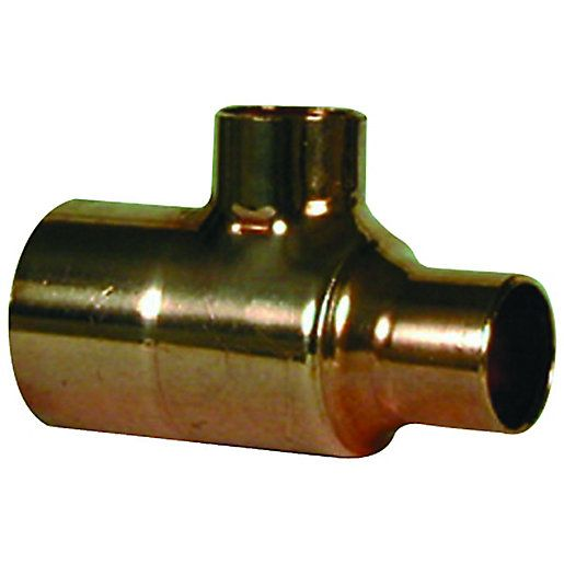 Plumbright End Feed Tee One End Branch Reducer 35X28x28mm