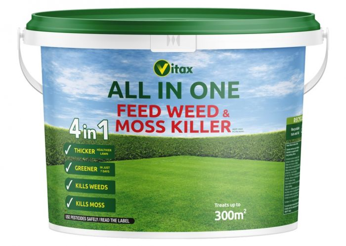 Vitax All In One Feed Weed & Moss Killer Tub 300sqm