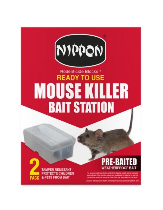 Nippon Ready To Use Mouse Killer Station Pack 2