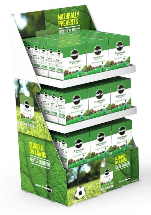 Miracle-Gro Performance Organics Lawn Food Display Unit of 60