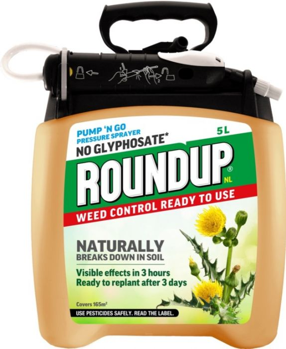 Roundup Natural Weed Control Pump N Go 5L