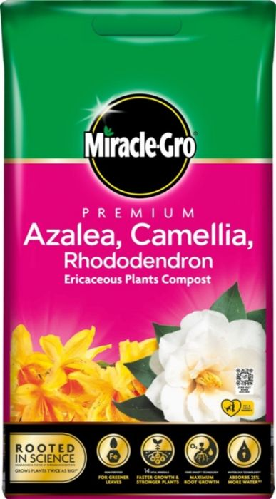 Miracle-Gro Azalea Camellia Rhododendron Compost 10L