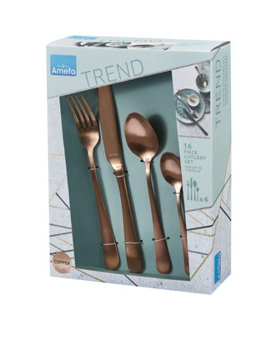 Amefa Copper Cutlery Set 16 Piece