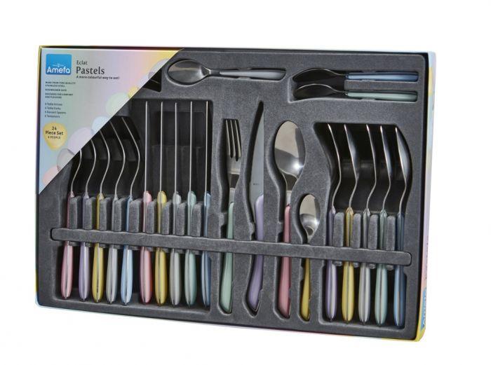 Amefa Eclat Cutlery Set 24 Piece Pastels