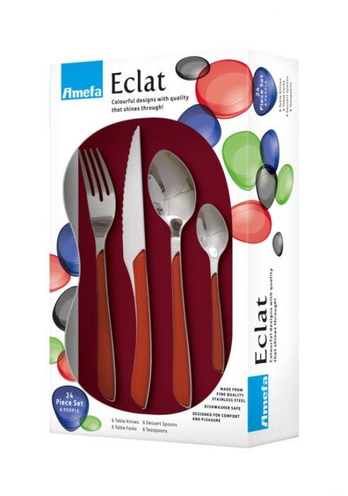 Amefa Eclat Cutlery Set 24 Piece Red