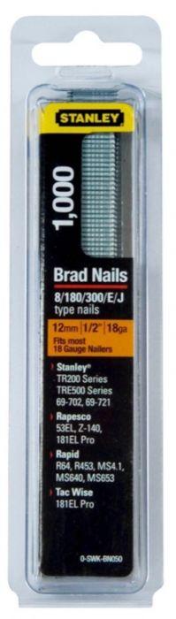 Stanley Brad Nails 12mm x 1000