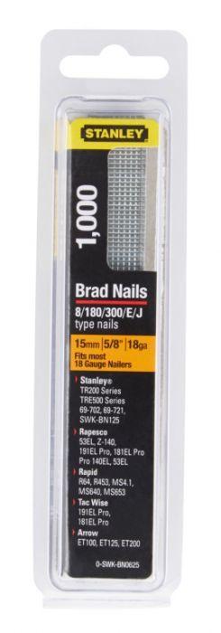Stanley Brad Nails 15mm x 1000