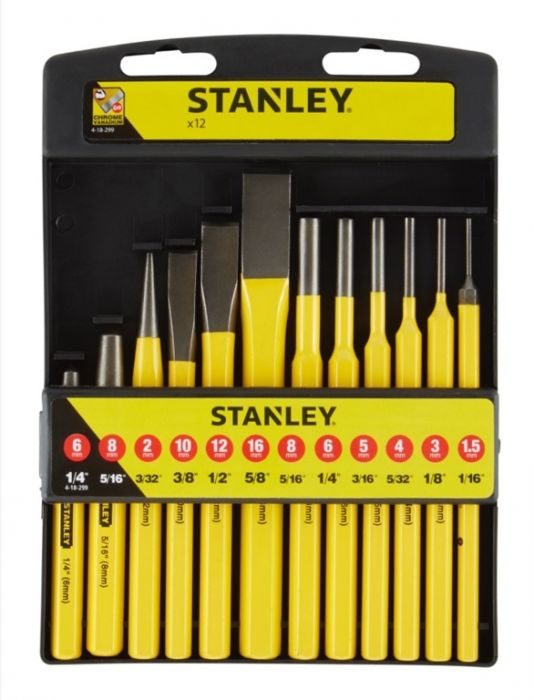 Stanley Punch And Chisel Kit 12 Piece