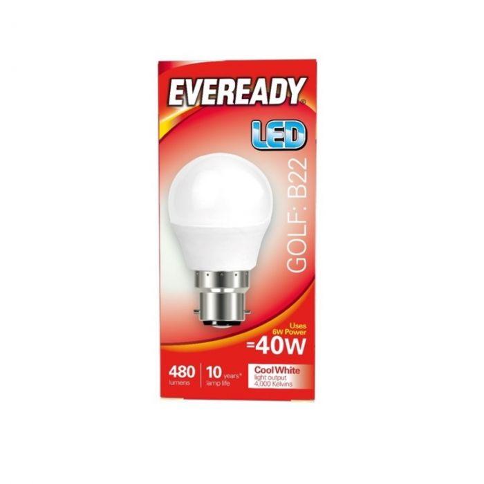 Eveready LED Golf 40W 480lm B22