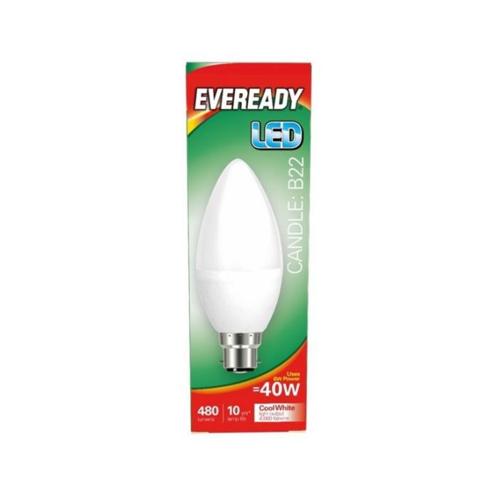 Eveready LED Candle 40W 480lm B22