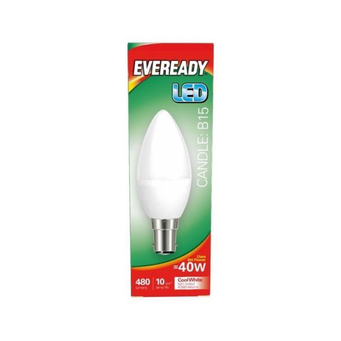 Eveready LED Candle 40W 480lm B15