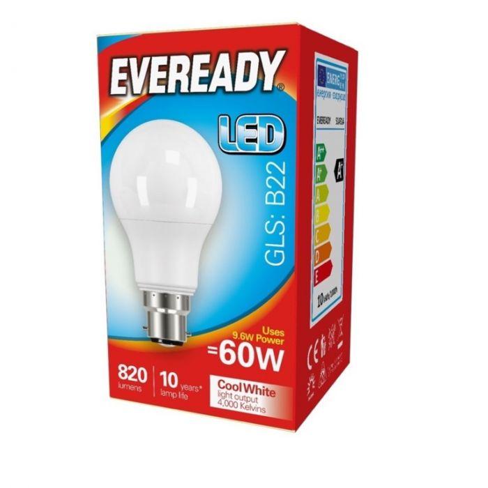 Eveready LED GLS 60W 820lm B22