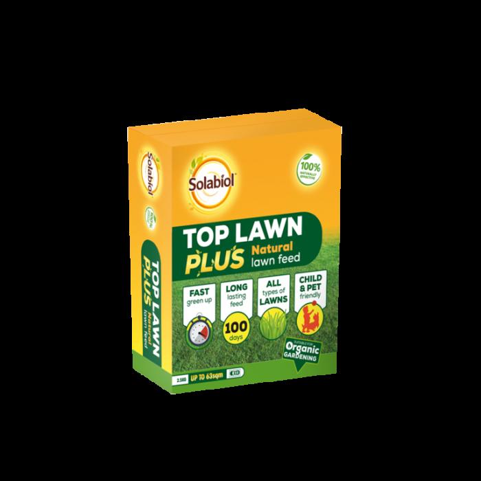 Solabiol Top Lawn Plus Natural Lawn Feed 2.5kg 63sqm