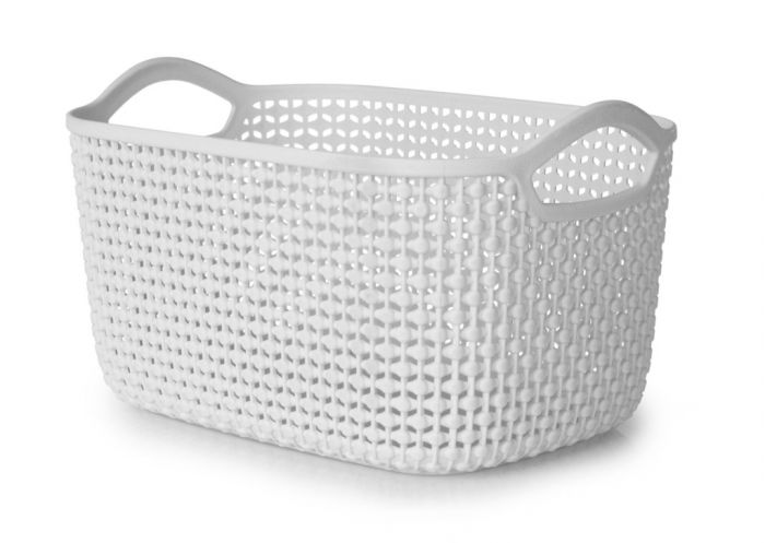 Blue Canyon Medium Storage Basket Light Grey