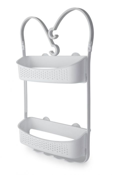 Blue Canyon Double Hanging Shower Caddy White